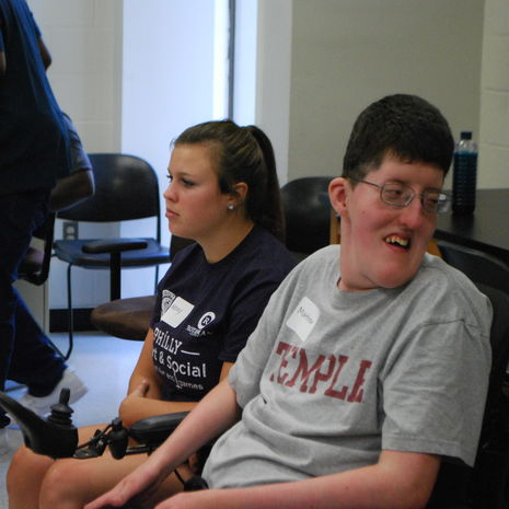 AAC using students in ACES summer program classroom